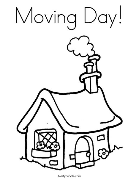 468x605 Moving Day Coloring Page