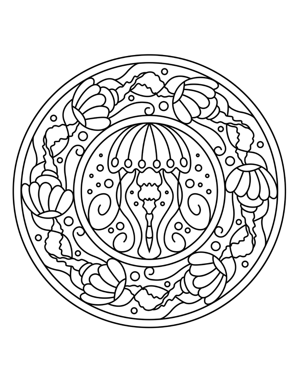 600x777 Adult Coloring Pages