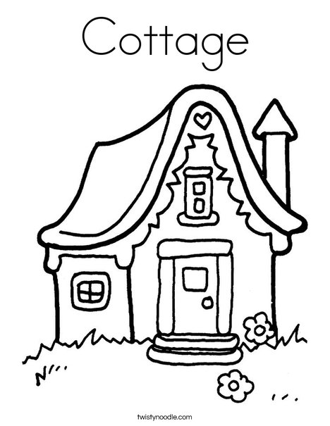 468x605 Cottage Coloring Page