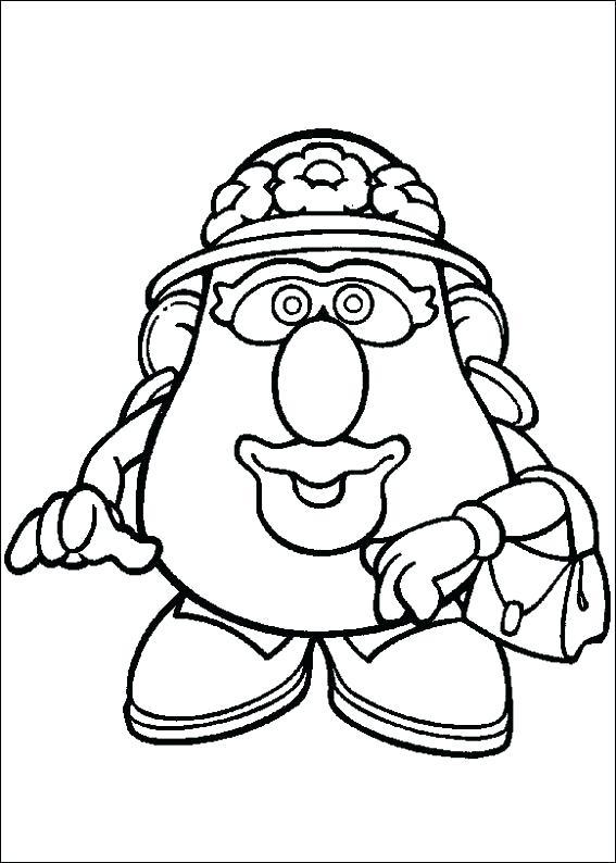 567x794 Potato Coloring Page Potato Coloring Pages Potato Head Coloring