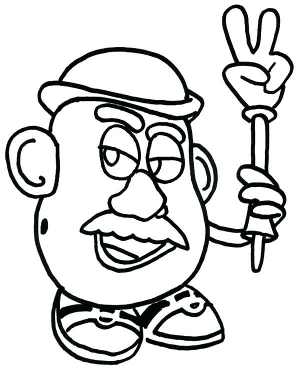 600x738 Potato Coloring Pages Potato Head Coloring Sheet Meet Potato Head