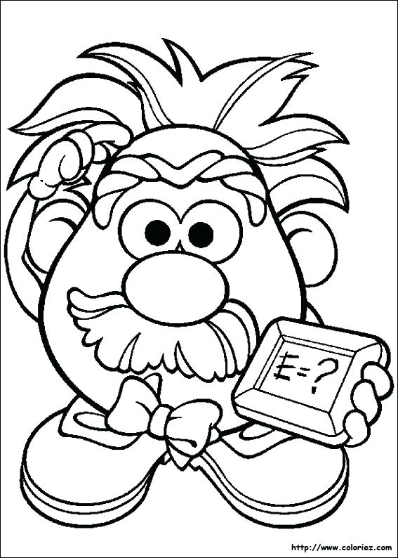 567x794 Printable Mr Potato Head Coloring Pages Red Page