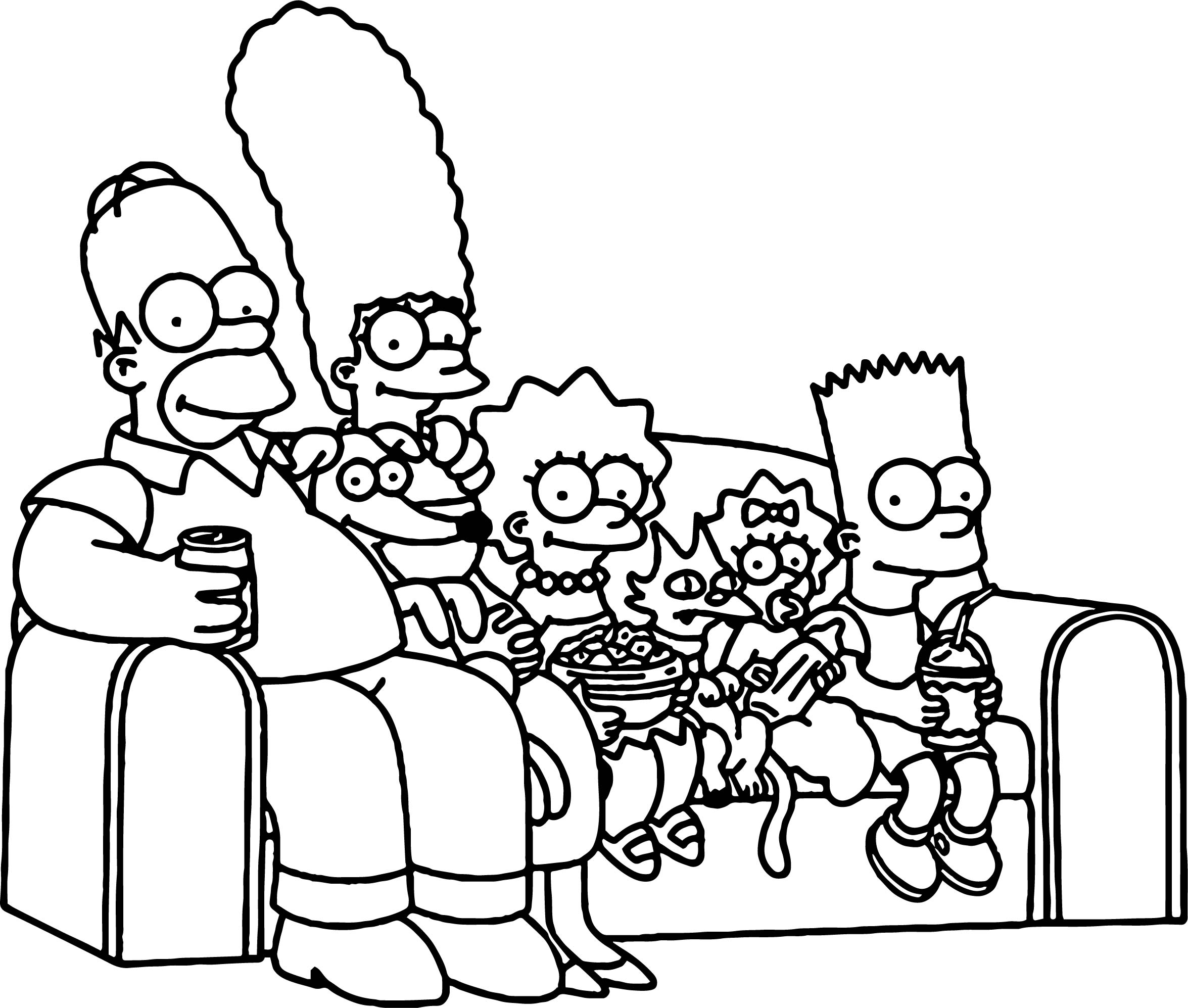 2351x1995 Simpsons Couch Coloring Page Wecoloringpage Brilliant Stuning
