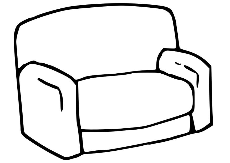 875x620 Coloring Page Of A Couch