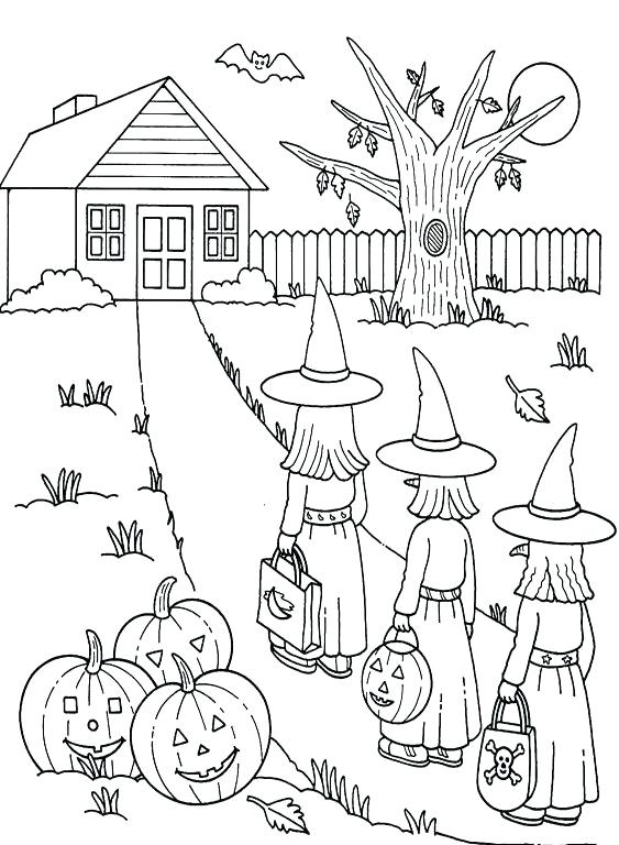 563x768 Printable Halloween Coloring Pages For Kids Coloring Ideas Pro