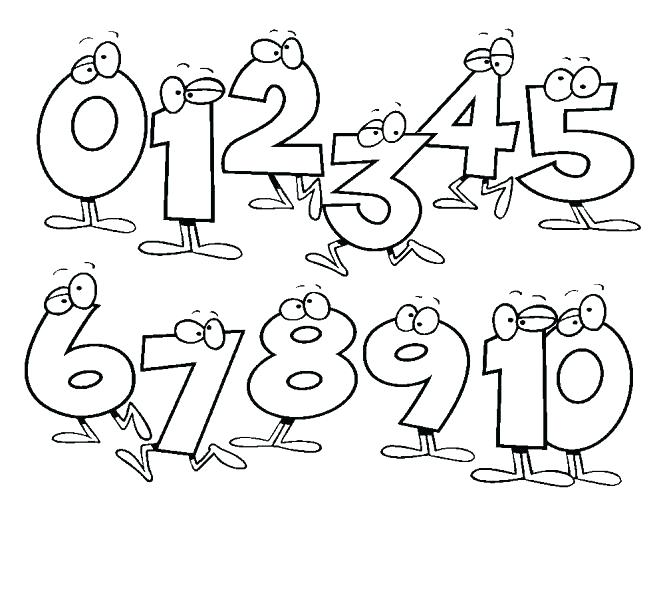 665x609 Number Coloring Pages Number Coloring Page Coloring Pages Number