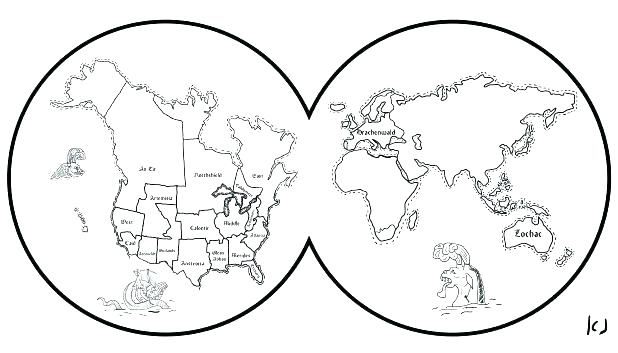 618x353 Map Of The World Coloring Page World Map Coloring Page Map