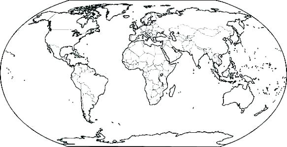 583x300 Map Of World Coloring Page Map Of The World Coloring World