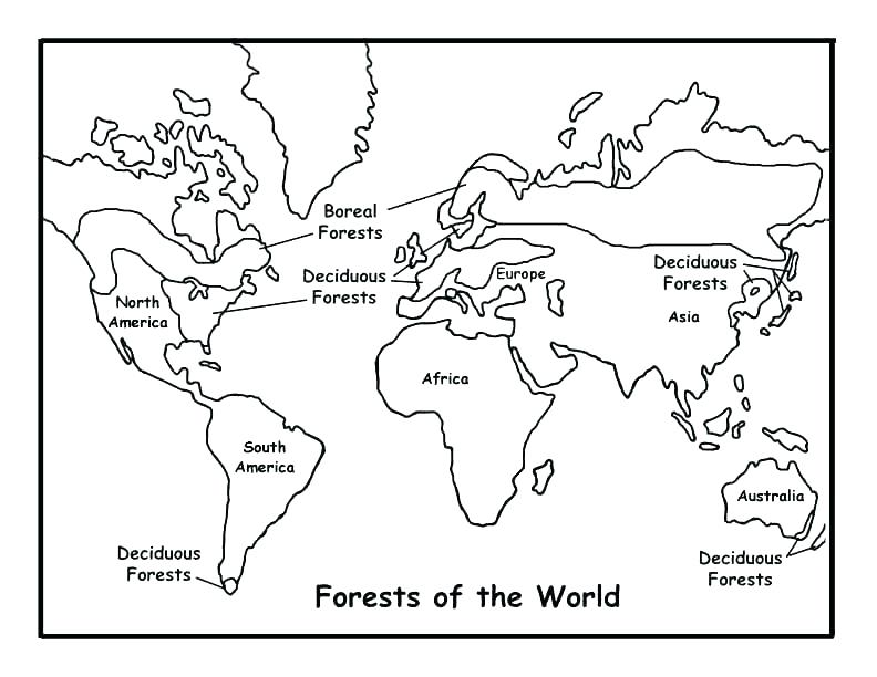 792x612 World Map Coloring Page With Countries World Coloring Page World