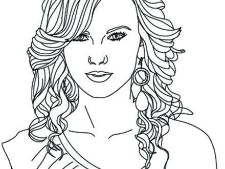 440x330 Coloring Pages Of Peoples Names Country Girl Swift My Singer S
