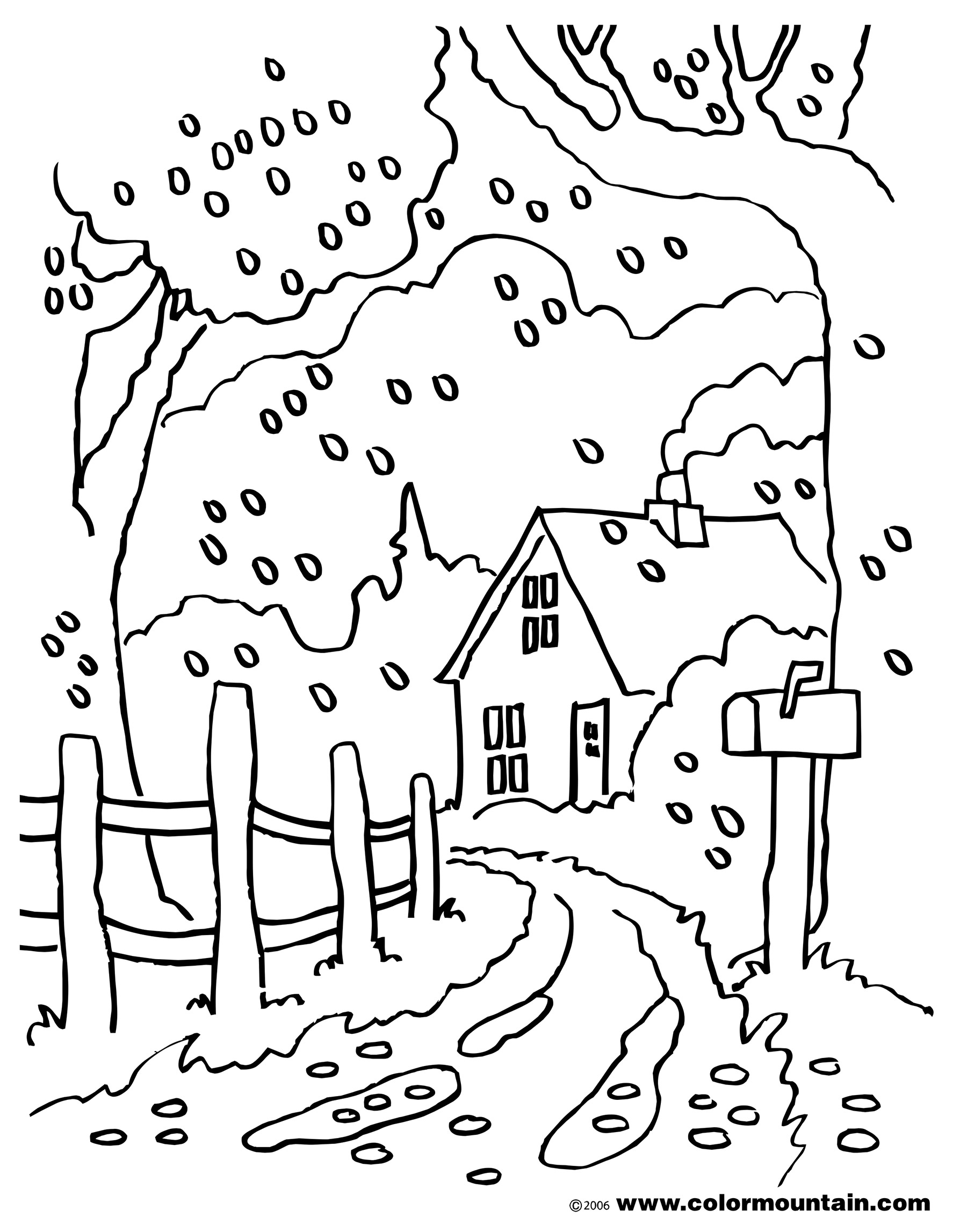 1800x2294 Fresh Fall Scene Coloring Pages Fall Country Road Coloring Create