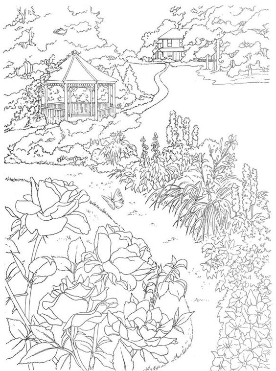 Country Scenes Coloring Pages at GetDrawings   Free download