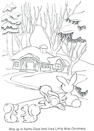 369x512 Winter Wonderland Coloring Pages Colouring For Cure Image Winter