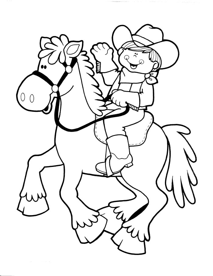 700x906 Cowboy And Cowgirl Coloring Pages Cowboy Coloring Pages