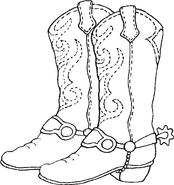 600x639 Unusual Design Ideas Western Coloring Pages Best Cowboy For Kids