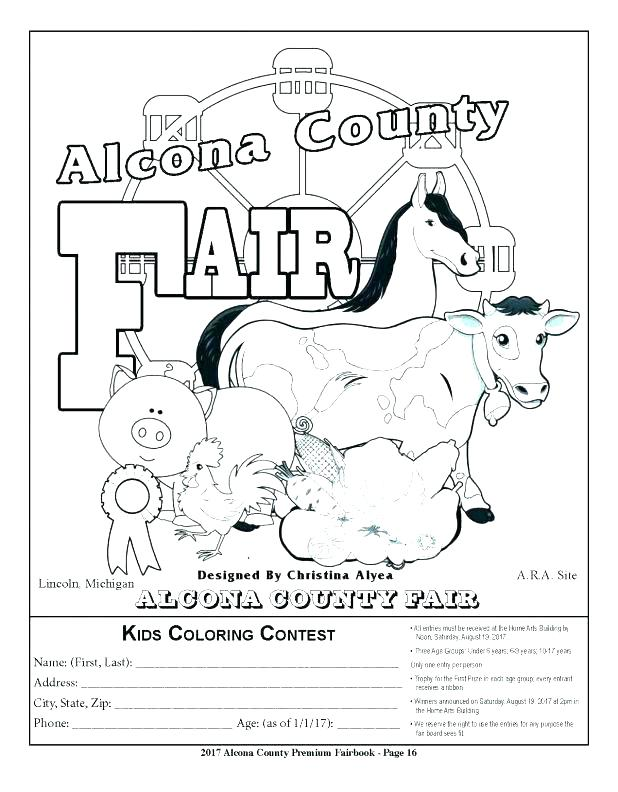 618x792 County Fair Coloring Pages Contest Also Kids Click Here