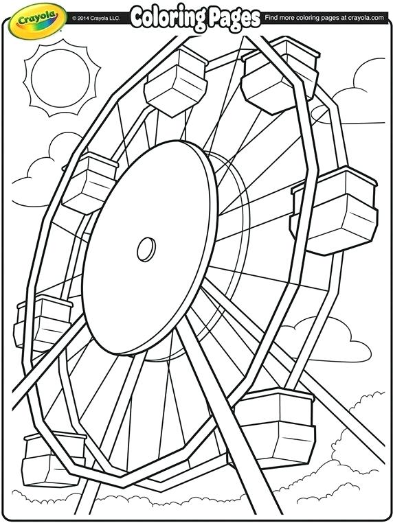 572x762 County Fair Coloring Pages Crayola Wheel Coloring Page Free