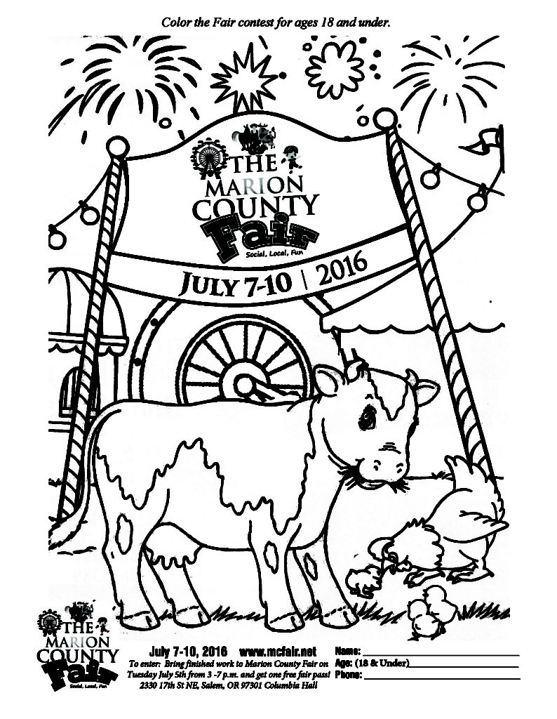 794x1024 County Fair Coloring Pages For Kids Cute