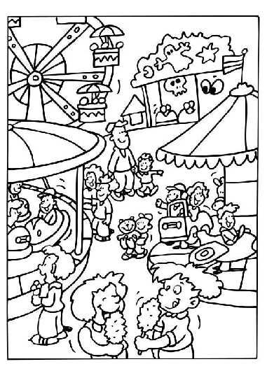 381x540 At The Fair Coloring Pages Preschool Theme The County Fair
