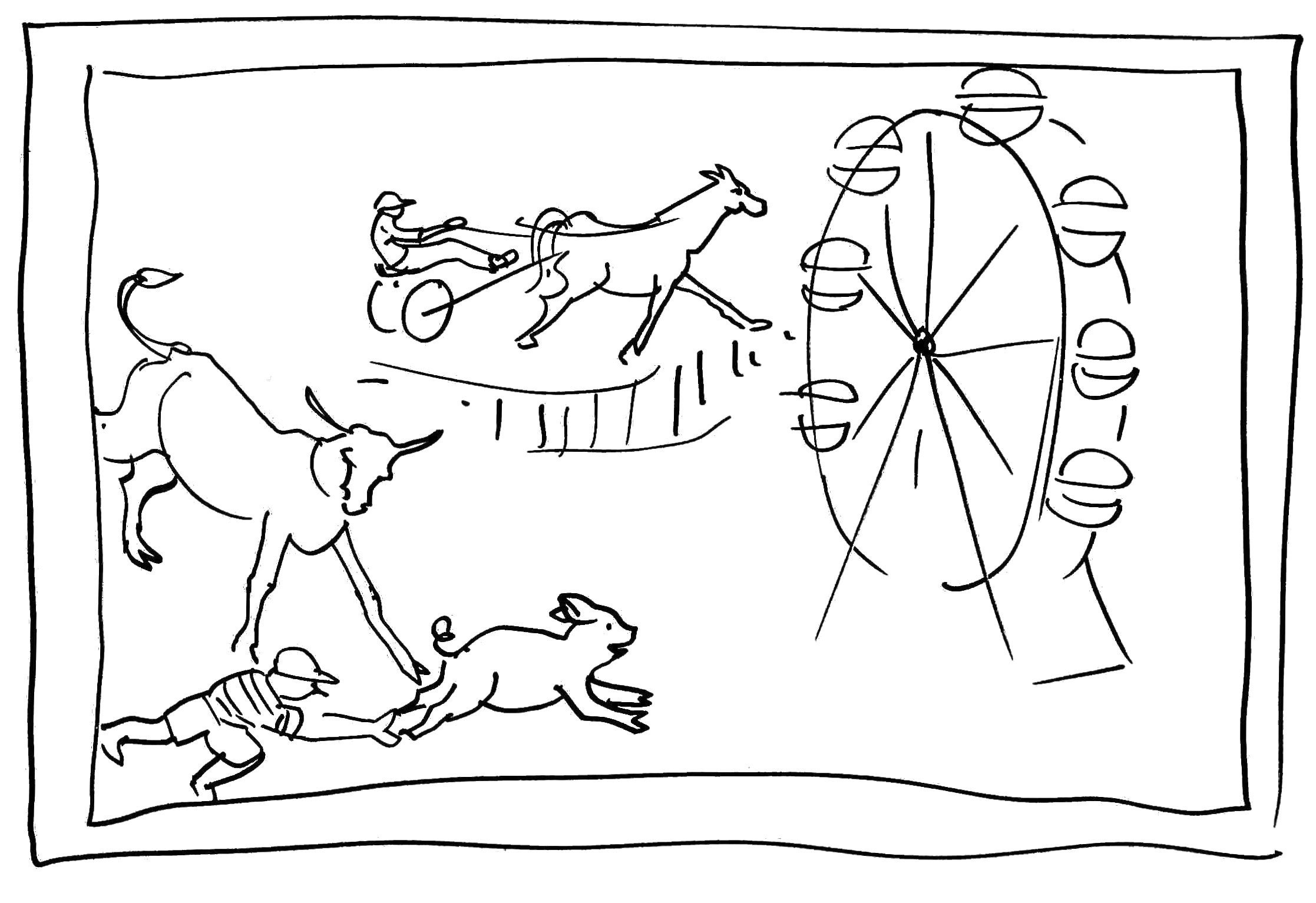 2234x1533 County Fair Easy Drawing Coloring Pages