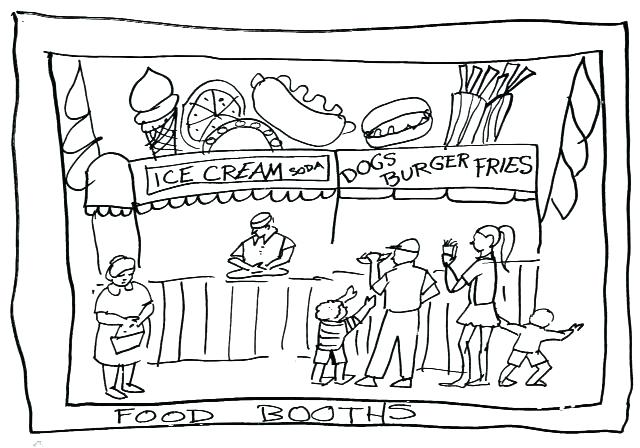 640x448 Fair Coloring Pages County Fair Coloring Pages Food Booths Demo