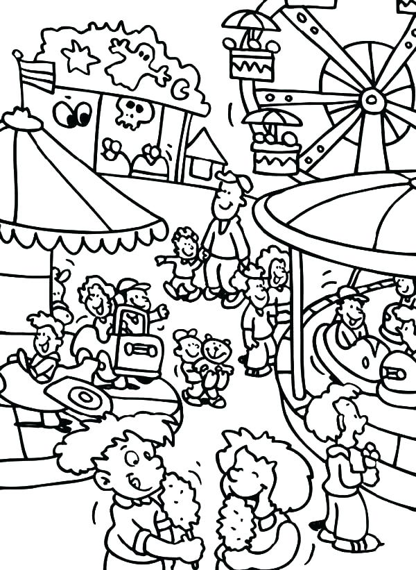 600x821 Fair Coloring Pages Fair Coloring Pages County Fair Coloring Pages
