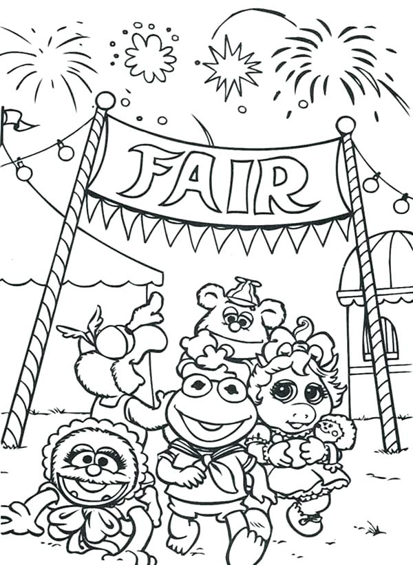 600x821 Fair Coloring Pages Free County Fair Coloring Sheets