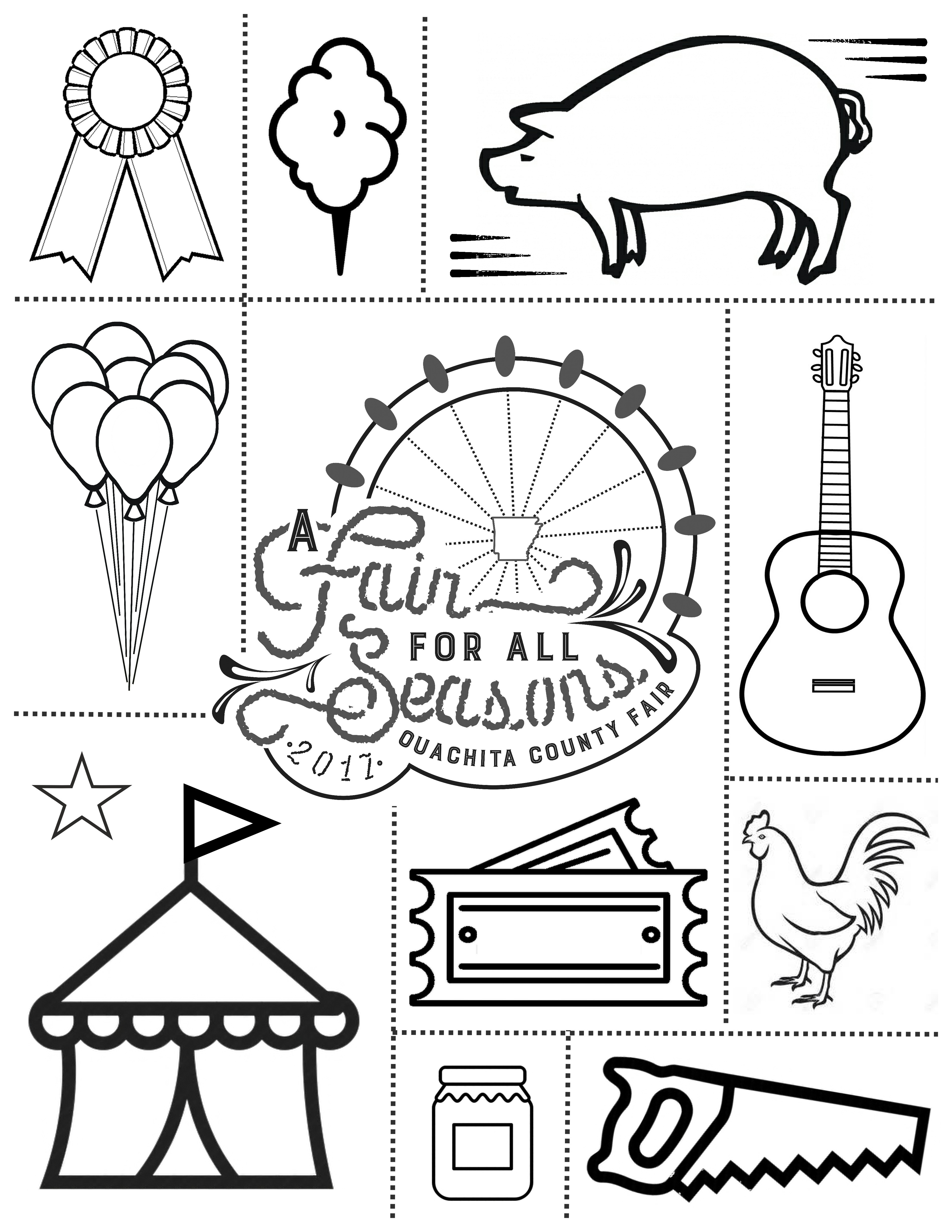 3825x4950 Free County Fair Coloring Pages Ouachita Camden Ar