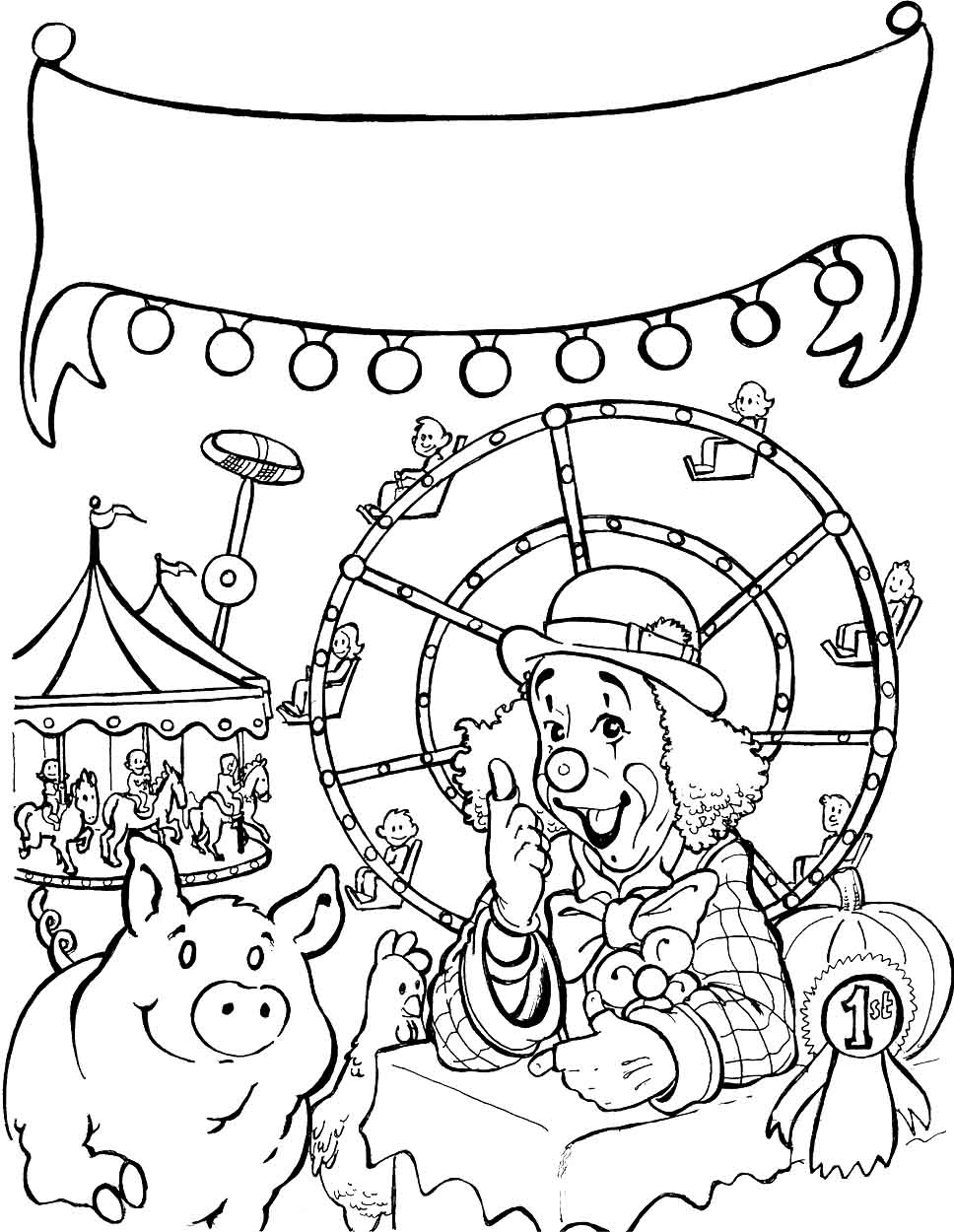 968x1250 Sensational Idea County Fair Coloring Pages Printable For Kids