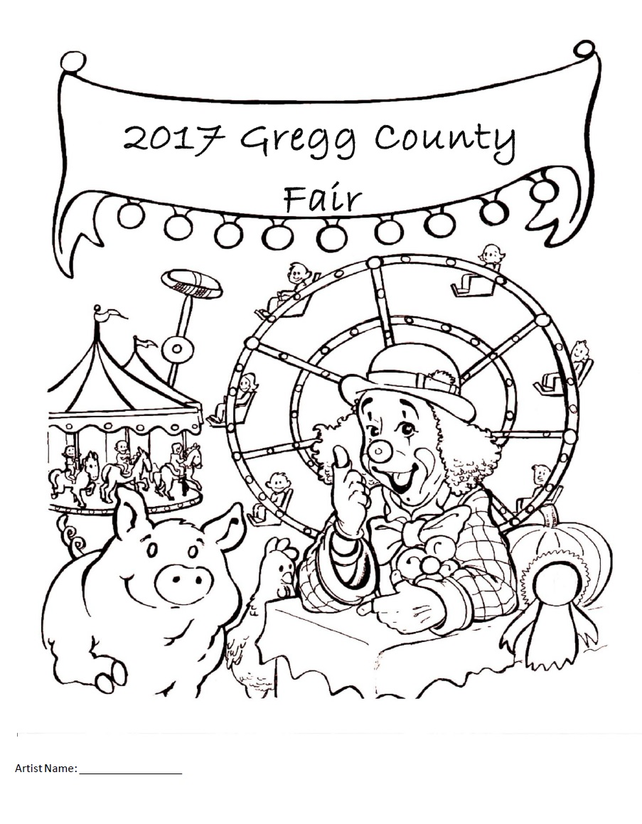 903x1159 Coloring Contest Longview, Tx Gregg County Fair