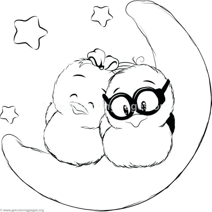 700x700 Cute Couple Coloring Pages Cute Cartoon Bird Couple Coloring Pages