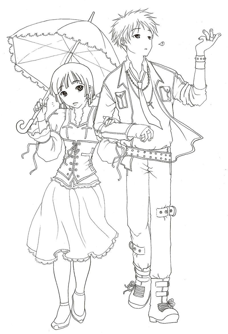 800x1172 Anime Couple Coloring Pages Coloring Pages For Child Kids Anime