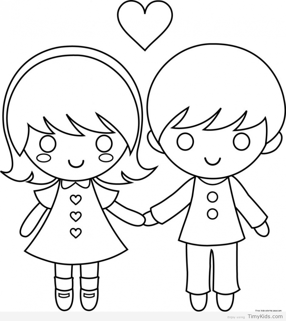 913x1024 Couple Coloring Pages Timykids