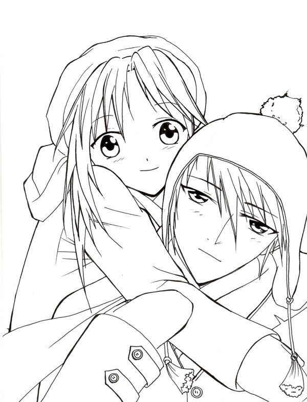 600x784 Anime Couple Coloring Pages Anime Couple Coloring Pages Projects