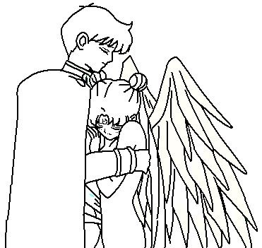 371x351 Couple Coloring Page