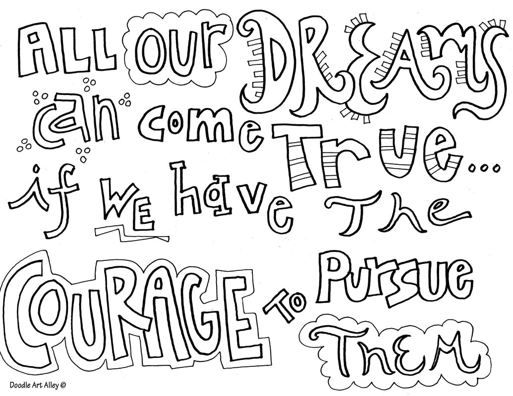 1035x800 Courage Quote Coloring Pages