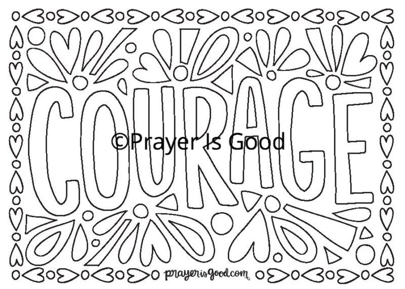 800x571 Download Our Courage Coloring Page Prayer Is Good