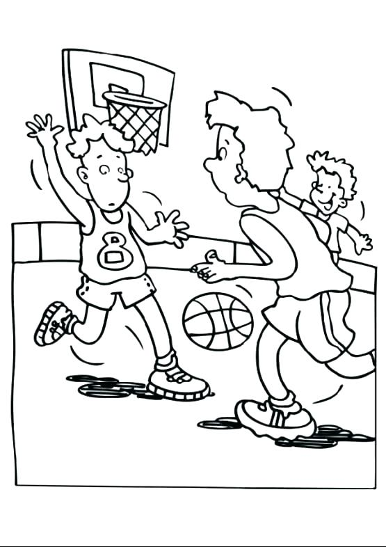 555x786 Coloring Pages Of Basketball Coloring Pictures Basketball Coloring