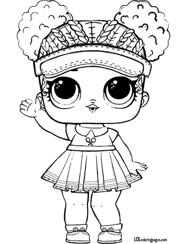 750x980 Court Champ Free Coloring Page Lol Surprise Doll Coloring Pages