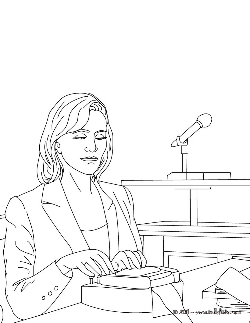 820x1060 Court Clerk Job Coloring Pages
