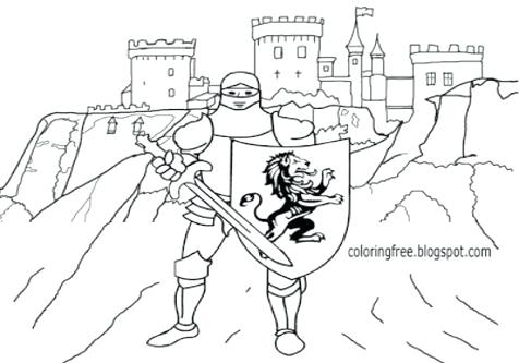476x333 King Arthur Coloring Pages Coloring Trend Medium Size Judge