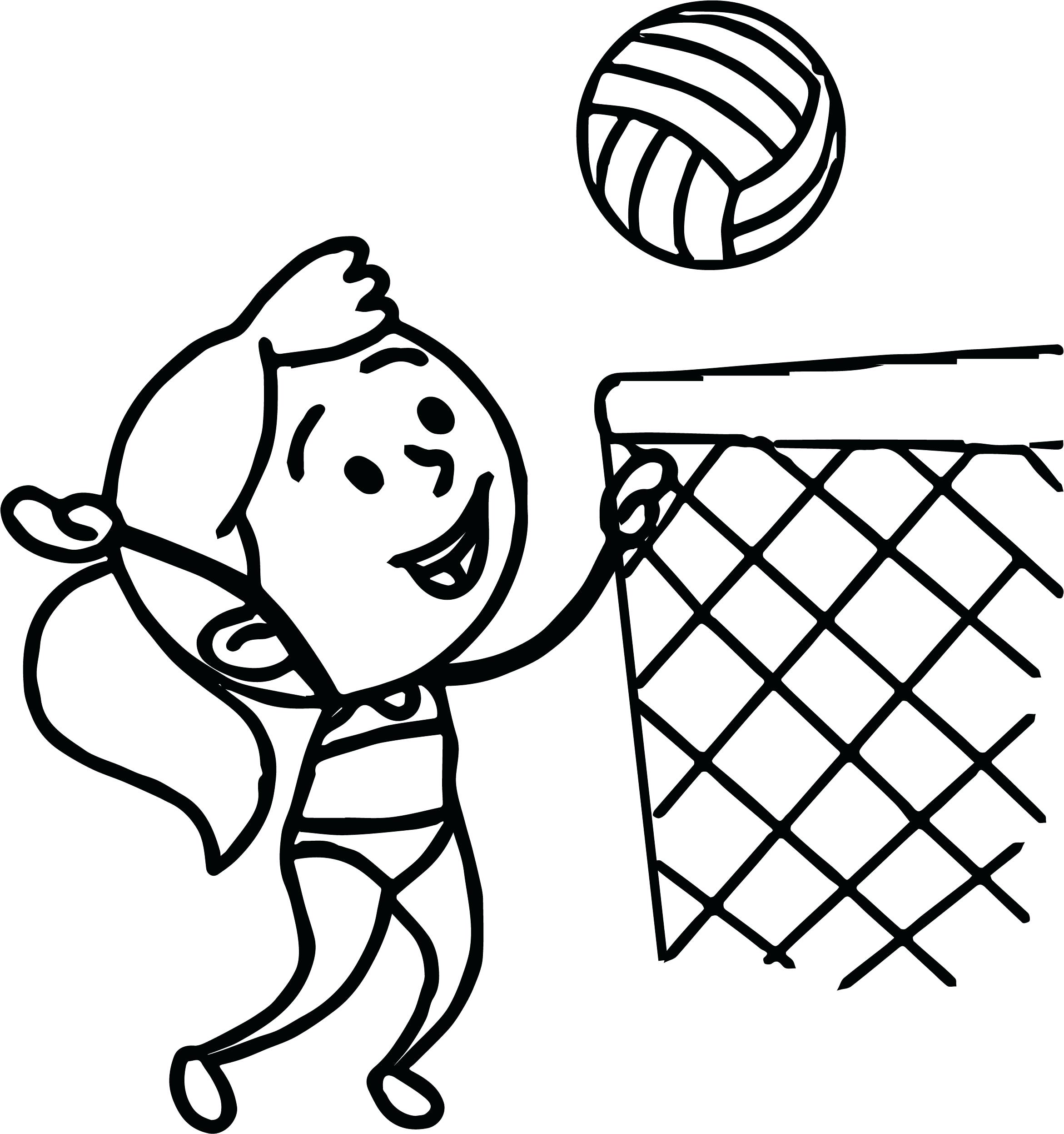 2342x2494 New Coloring Volleyball Coloring Pages Girl In Bathing Suit