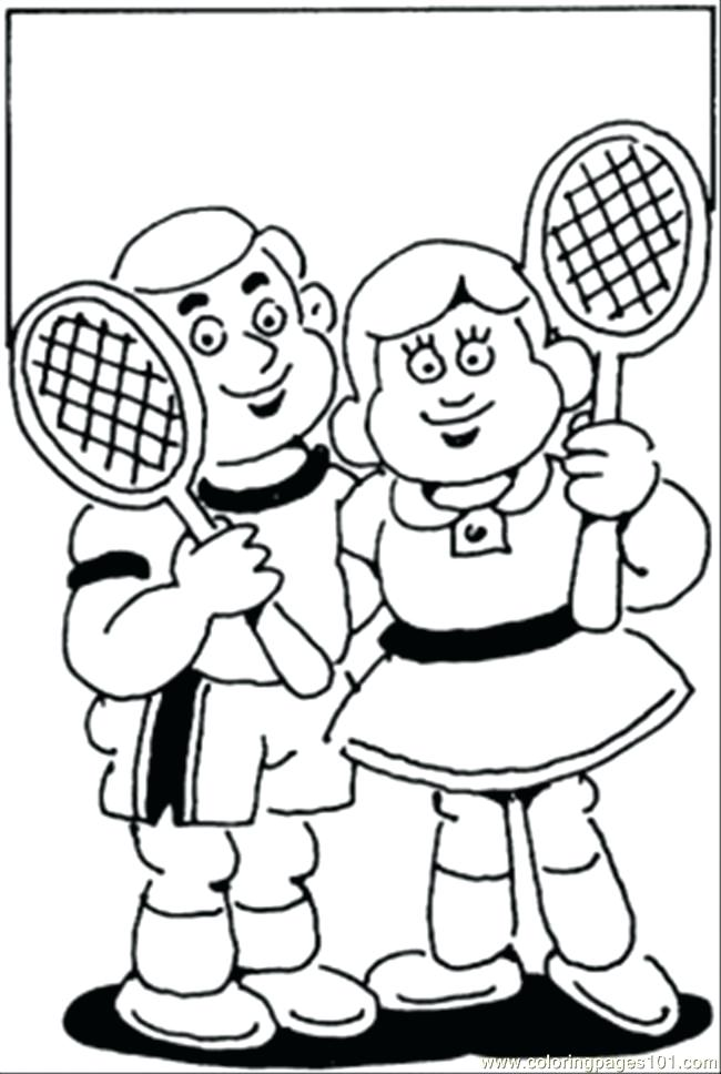 650x968 Tennis Coloring Pages Tennis Court Coloring Pages