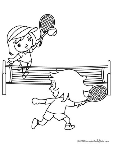 364x470 Tennis Court With Players Coloring Pages