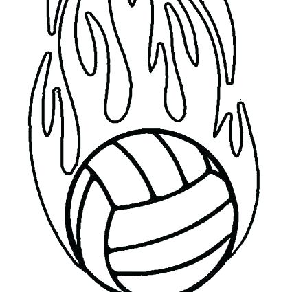 425x425 Volleyball Coloring Pages Coloring Pages Volleyball X A Next Image