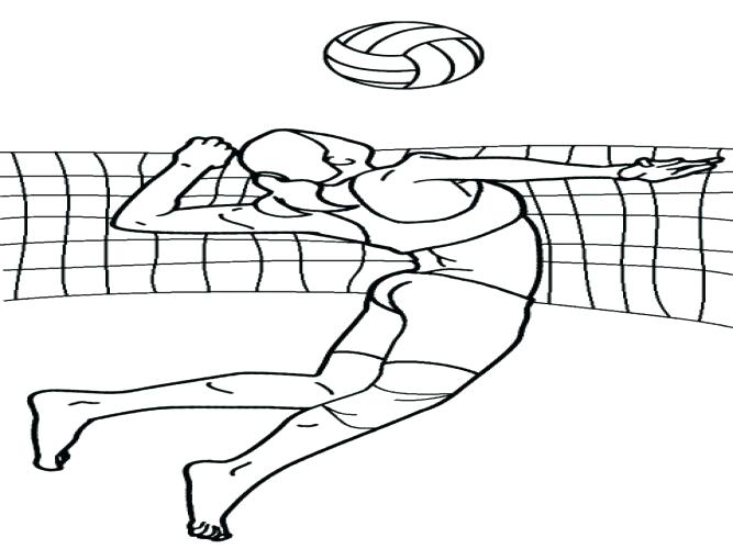 667x500 Volleyball Coloring Pages Medium Size Of Volleyball Coloring Pages