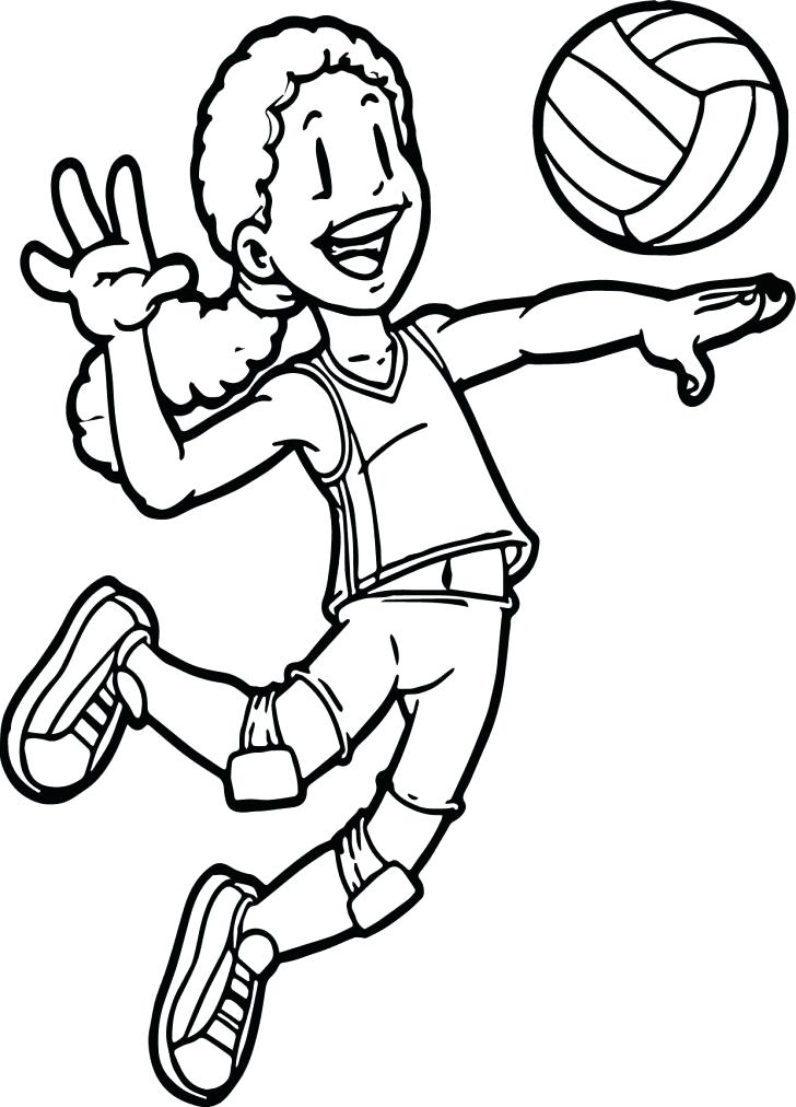 728x1012 Volleyball Coloring Pages With Wallpapers Picture Medium Size