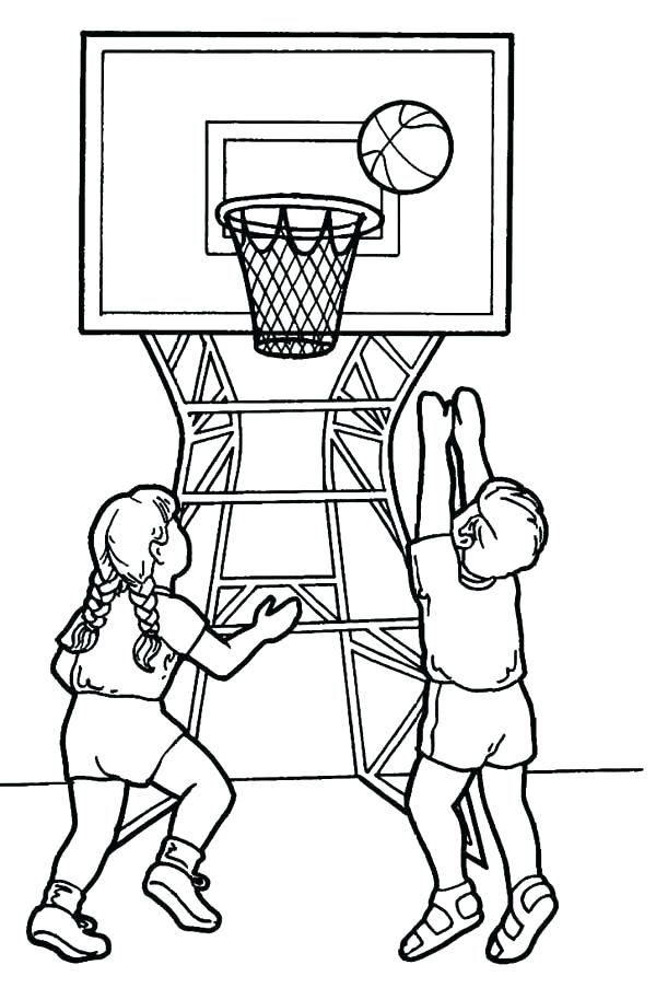 600x903 Basketball Coloring Page To Play Basketball Basketball Coloring