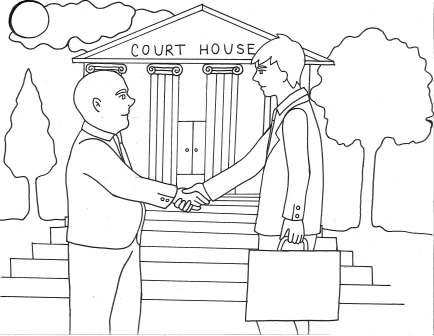 Courthouse Coloring Page