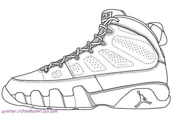580x387 Nike Sneaker Coloring Pages